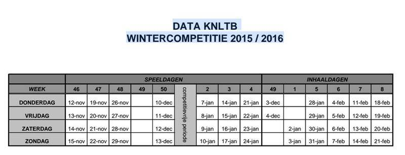 wintercompetitieschema